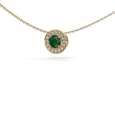 Picture of Pendant Agaat 585 gold emerald 5 mm