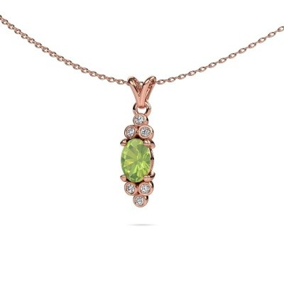 Picture of Pendant Lucy 2 585 rose gold peridot 7x5 mm