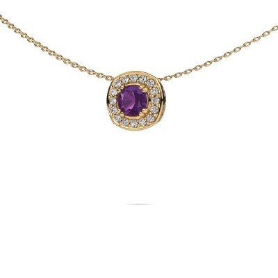 Picture of Necklace Carolina 585 gold amethyst 5 mm