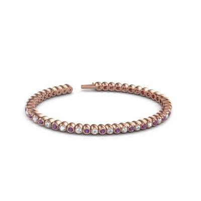 Foto van Tennisarmband Patrica 750 rosé goud amethist 2.4 mm