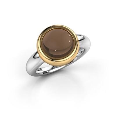 Picture of Ring Jenae 585 white gold smokey quartz 10 mm