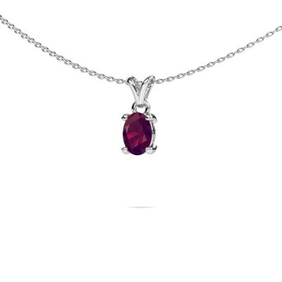 Picture of Necklace Lucy 1 950 platinum rhodolite 7x5 mm