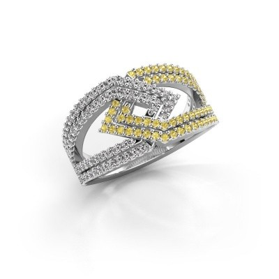 Picture of Ring Emanuelle 585 white gold yellow sapphire 1 mm