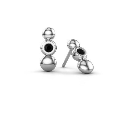 Picture of Earrings Lily 925 silver black diamond 0.144 crt