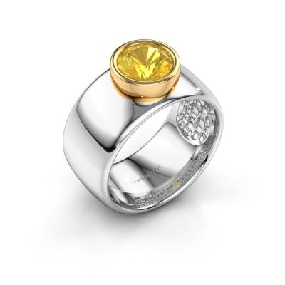 Picture of Ring Klarinda 585 white gold yellow sapphire 7 mm