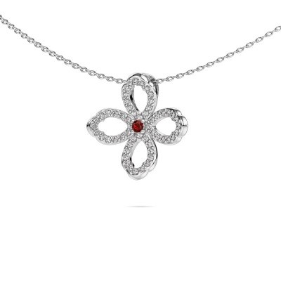 Picture of Necklace Chelsea 585 white gold garnet 2 mm