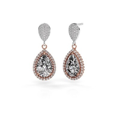 Picture of Drop earrings Cheree 2 585 rose gold diamond 6.690 crt