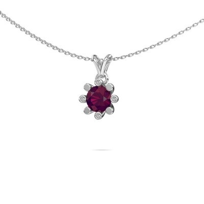 Picture of Pendant Carola 2 925 silver rhodolite 6 mm