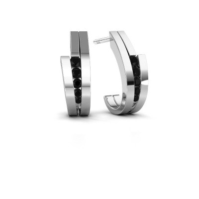 Picture of Earrings Cato 925 silver black diamond 0.30 crt