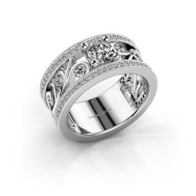 Foto van Ring Sanne 585 witgoud diamant 1.30 crt