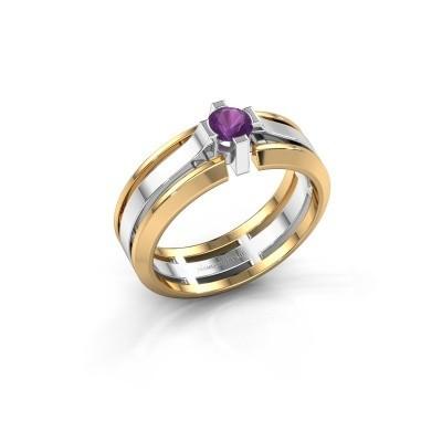 Foto van Heren ring Sem 585 witgoud amethist 4.7 mm