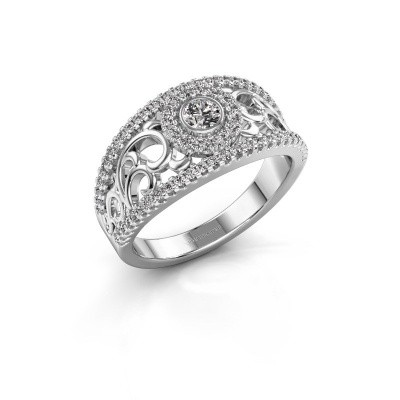 Verlovingsring Lavona 585 witgoud diamant 0.50 crt