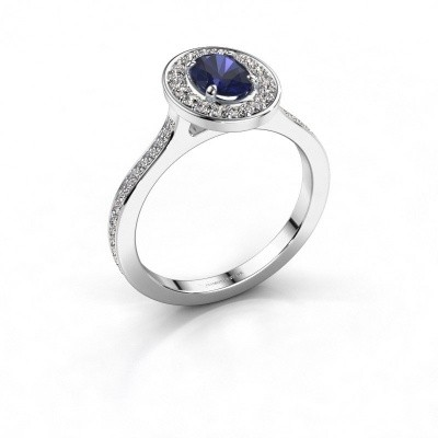 Picture of Ring Madelon 2 585 white gold sapphire 7x5 mm