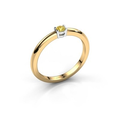 Foto van Verlovingsring Michelle 1 585 goud gele saffier 2.7 mm
