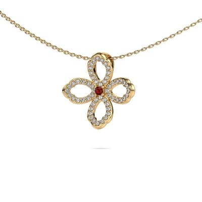 Picture of Necklace Chelsea 585 gold garnet 2 mm