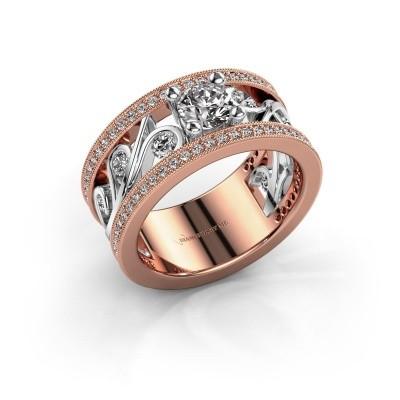 Foto van Ring Sanne 585 rosé goud diamant 1.30 crt