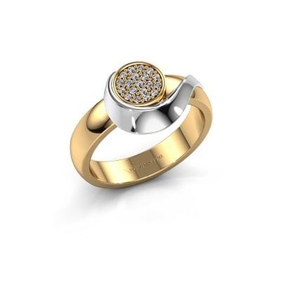 Ring Kimber 585 goud diamant 0.107 crt