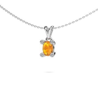 Picture of Necklace Cornelia Oval 950 platinum citrin 7x5 mm