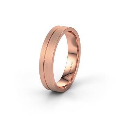 Trouwring WH0160M14XM 585 rosé goud ±4x1.5 mm