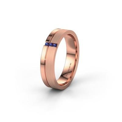 Trouwring WH0157L14XPM 585 rosé goud saffier ±4x1.4 mm