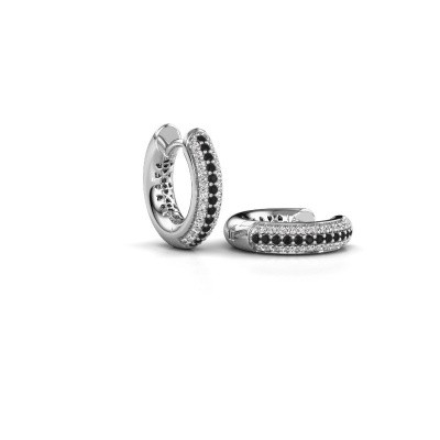 Picture of Hoop earrings Tristan B 14 mm 950 platinum black diamond 0.348 crt