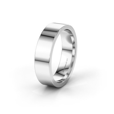 Trouwring WH0100M16BP 585 witgoud ±6x2 mm