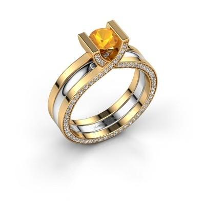 Foto van Ring Kenisha 585 goud citrien 5 mm