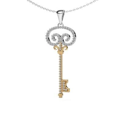 Bild von Halskette Key 1 585 Gold Diamant 0.293 crt
