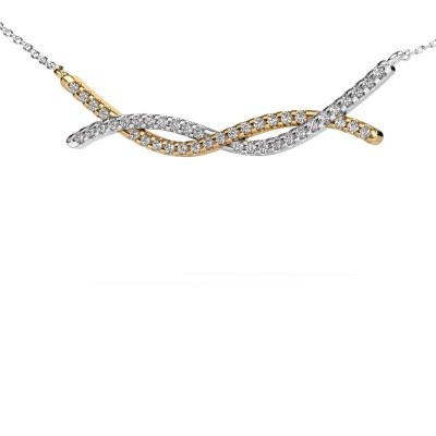 Picture of Bar necklace Breanne 585 gold zirconia 1.2 mm