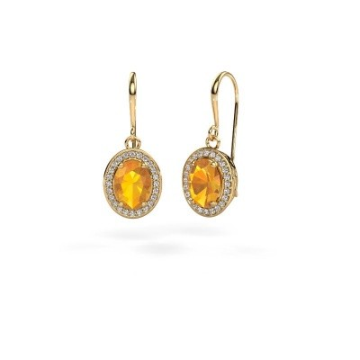 Picture of Drop earrings Latesha 585 gold citrin 8x6 mm