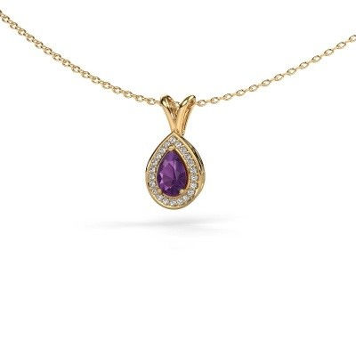 Picture of Necklace Ginger 585 gold amethyst 6x4 mm