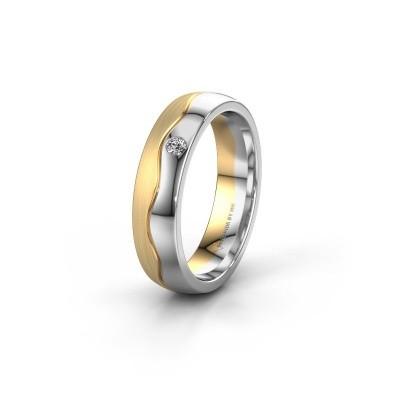 Trouwring WH0701L25APM 585 goud diamant ±5x1.7 mm