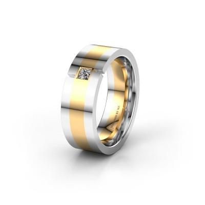 Trouwring WH2042P 585 goud diamant ±7x2.4 mm