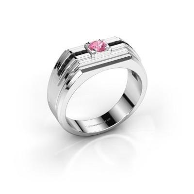 Foto van Heren ring Oliver 925 zilver roze saffier 4 mm
