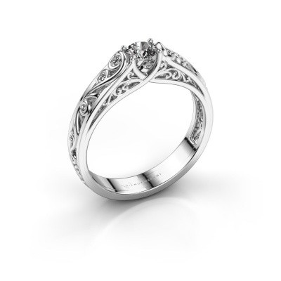 Picture of Ring Quinty 585 white gold diamond 0.335 crt