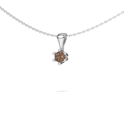 Picture of Necklace Fay 950 platinum brown diamond 0.25 crt