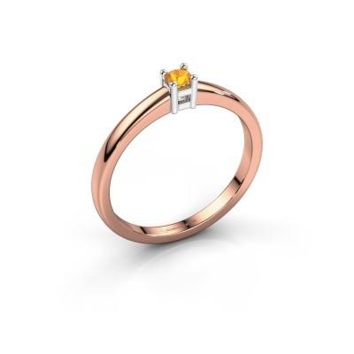 Foto van Promise ring Eline 1 585 rosé goud citrien 3 mm