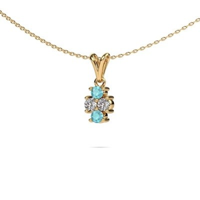 Picture of Necklace Richelle 375 gold blue topaz 3 mm