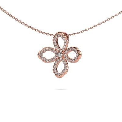 Foto van Ketting Chelsea 375 rosé goud diamant 0.31 crt