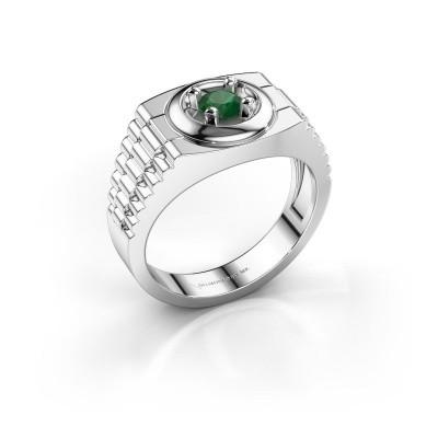 Foto van Rolex stijl ring Edward 925 zilver smaragd 4.7 mm