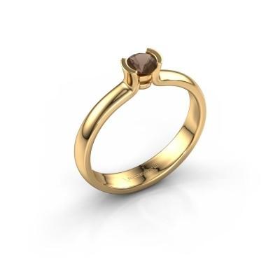 Foto van Verlovingsring Ophelia 585 goud rookkwarts 4 mm