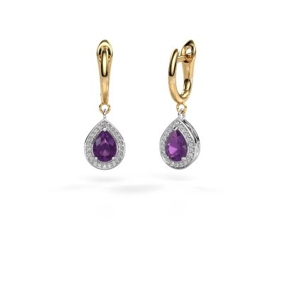 Picture of Drop earrings Ginger 1 585 white gold amethyst 7x5 mm