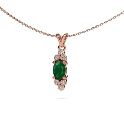 Picture of Pendant Lucy 2 585 rose gold emerald 7x5 mm