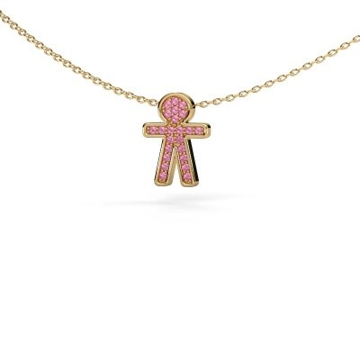 Picture of Pendant Boy 585 gold pink sapphire 1 mm