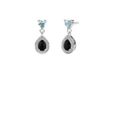 Picture of Drop earrings Susannah 585 white gold black diamond 1.69 crt