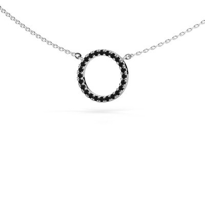 Picture of Pendant Circle 925 silver black diamond 0.216 crt