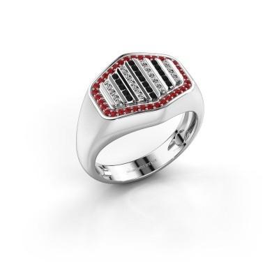 Foto van Heren ring Beau 950 platina robijn 1 mm