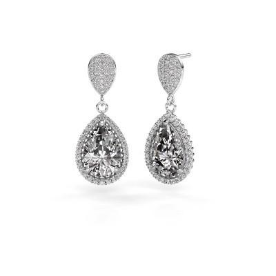Foto van Oorhangers Cheree 2 950 platina diamant 6.690 crt