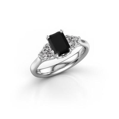 Bild von Verlobungsring Myrna EME 585 Weissgold Schwarz Diamant 1.530 crt