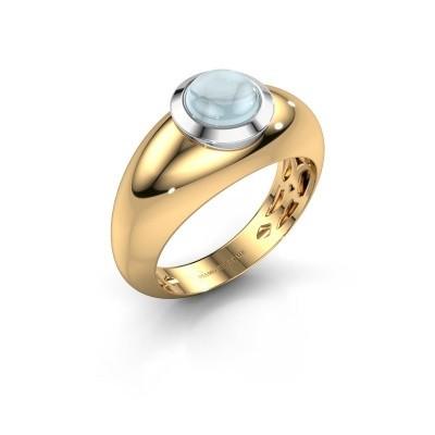 Foto van Ring Sharika 585 goud aquamarijn 6 mm